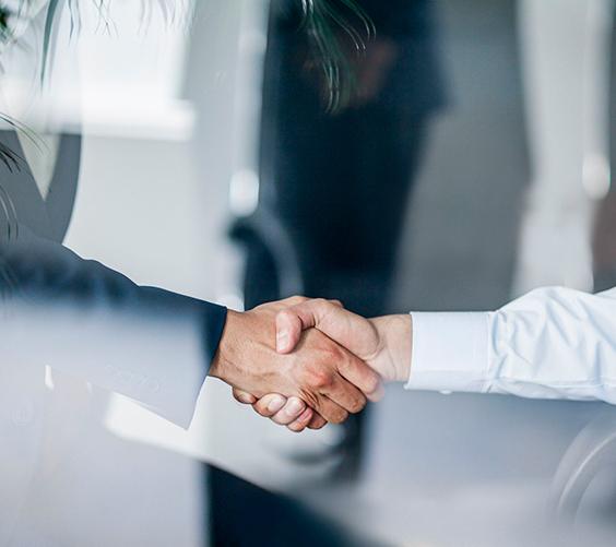 Delight The Customer Handshake